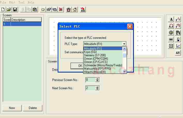 PLC models supported by op320-a