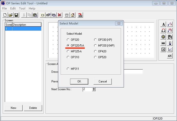 OP320-A software